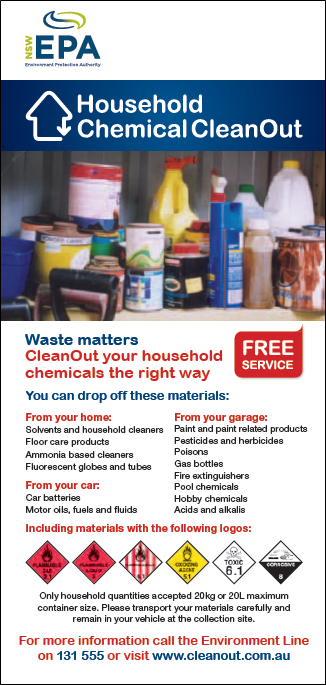 Household Chemical CleanOut Flyer