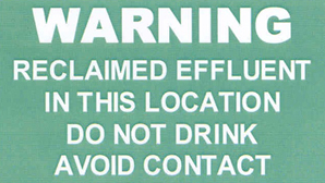 Warning Sign that must be displayed in all irrigation areas for Aerated Wastewater Treatment Systems (AWTS).