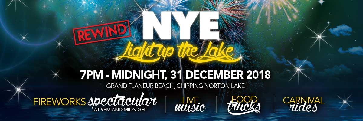 The New Years Light up the Lake event will be held from 7pm - Midnight on 31 December 2018