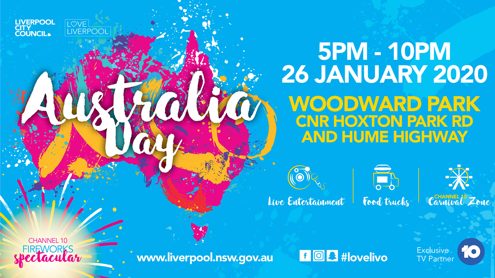 Australia Day 2020 promotional banner