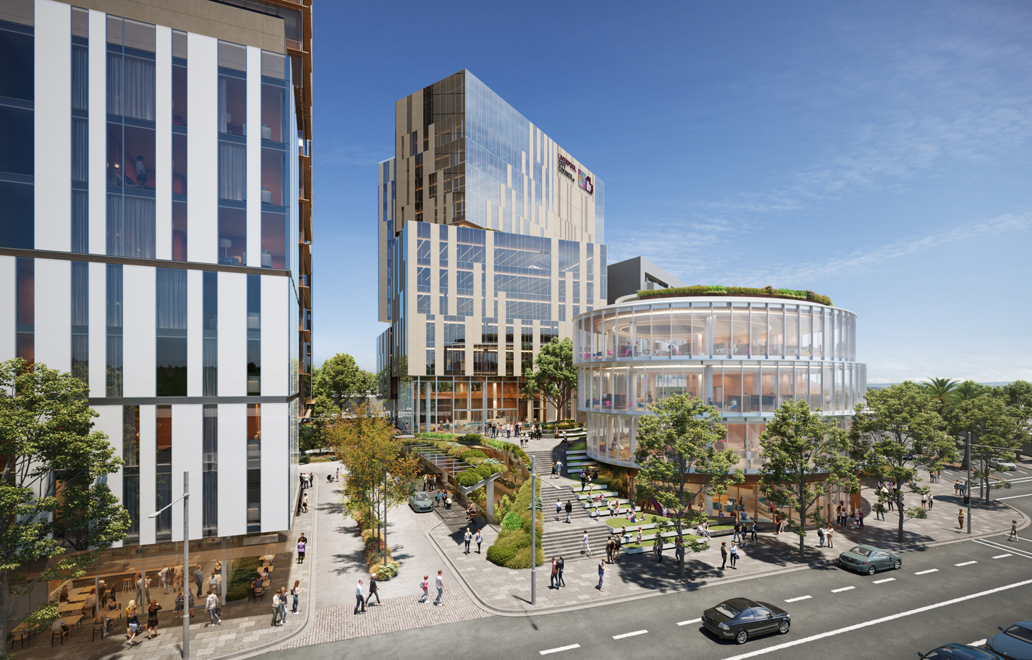 An artist's impression of the future Liverpool Civic Place mixed-use precinct.