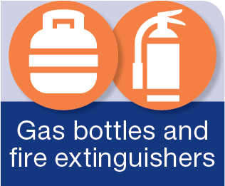 gas bottles & fire extinguishers